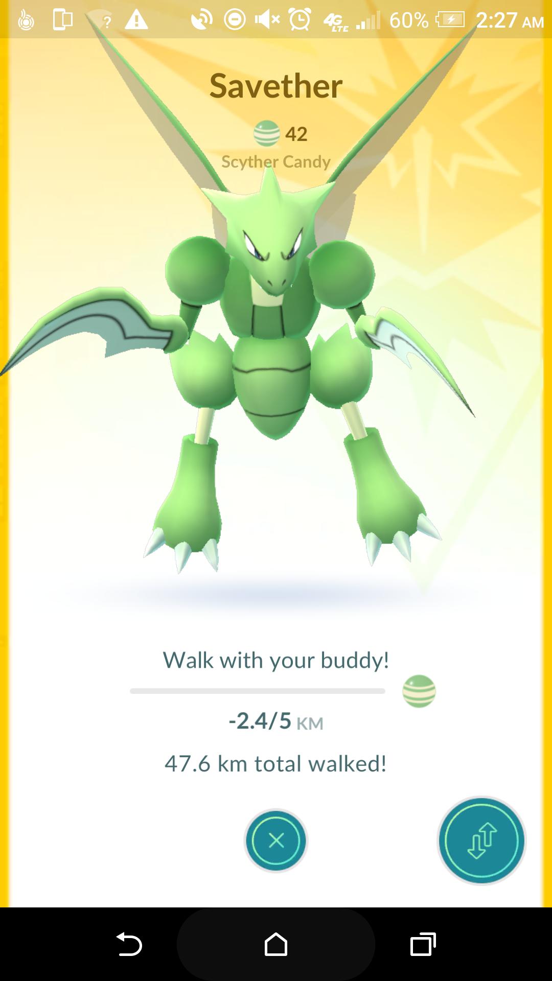 [Bug]My scyther buddy is getting negative walking distance.