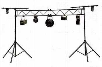 We Have 2 Of These Truss Systems 10 Feet Wide I Also Have Four T Bar Light Stands If We Need To Go Wider Than 10 Feet Bar Lighting Lighting Gear Light