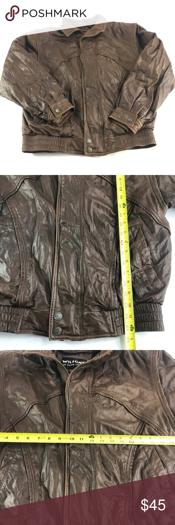 Vintage Wilson's Leather Bomber Classic Jacket Up for Sale