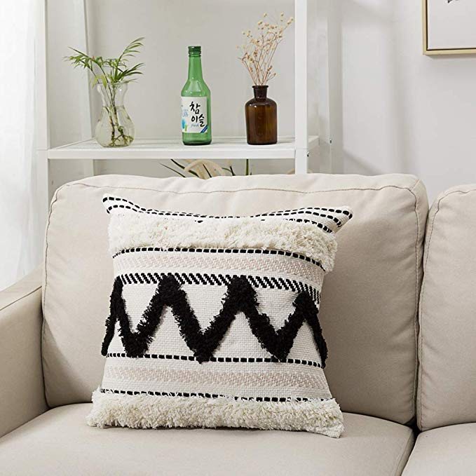 boho throw pillow covers 18x18 inch