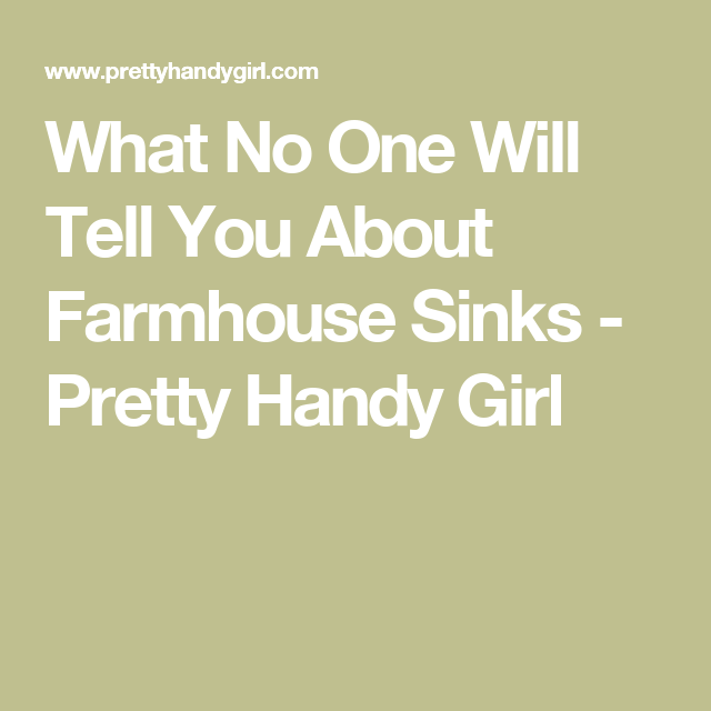 What No One Will Tell You About Farmhouse Sinks Common