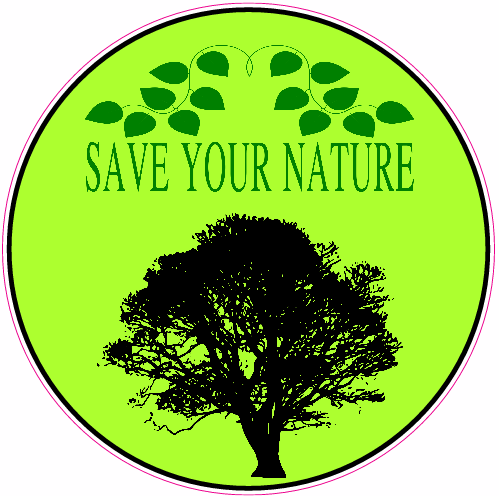 Get this save your nature tree circle sticker online at the u s custom stickers decal store