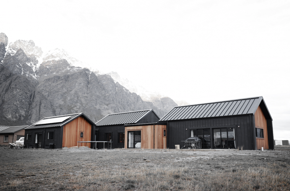 Architectural home eco cedar black ply build me - Architect designed modular homes nz ...