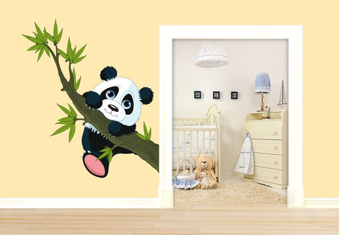 Wall sticker climbing panda | Wall Decor | Pinterest | Panda, Van ...