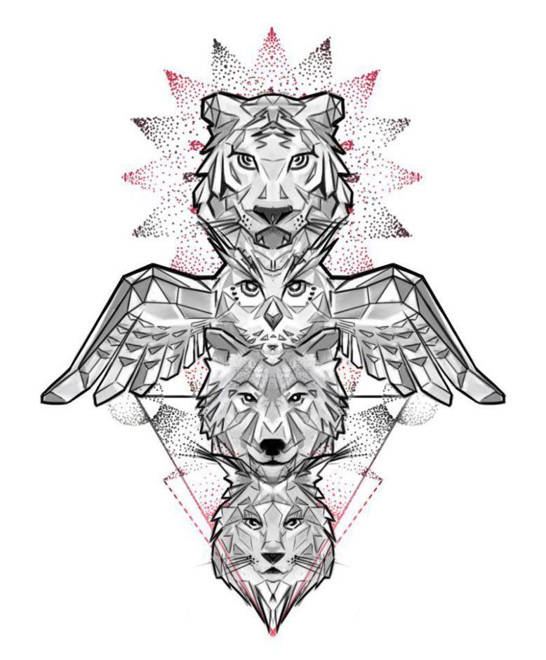 Pin By Nick Grandy On Tattoo Totem Tattoo Totem Pole Tattoo Animal Totems