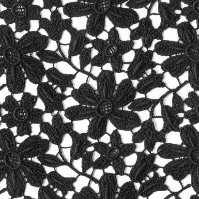 Black Floral Wool Guipure Lace in 2019 | Mood•Inspirations