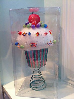 Candyland Inspired Cupcake Tree Topper Centerpiece Prop Christmas