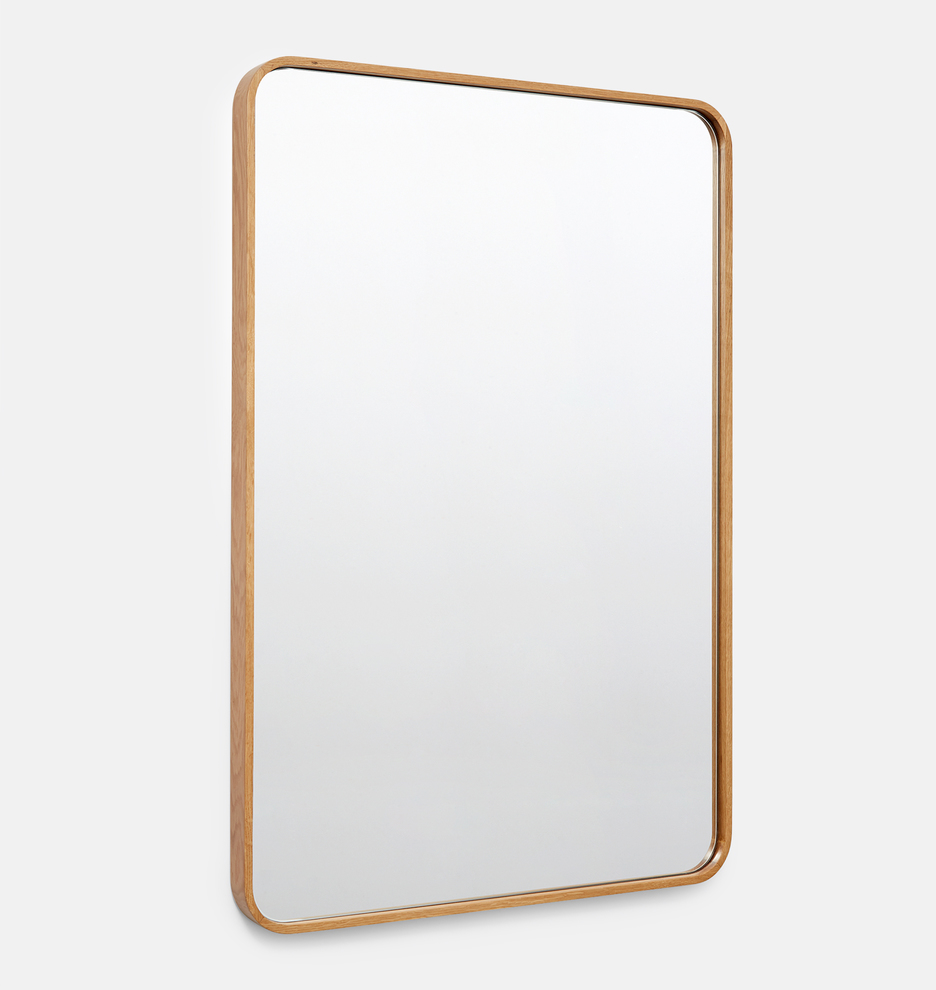 Solid White Oak Rounded Rectangle Mirror 2408 In 2019 Floor Mirror Bathroom Red Mirror