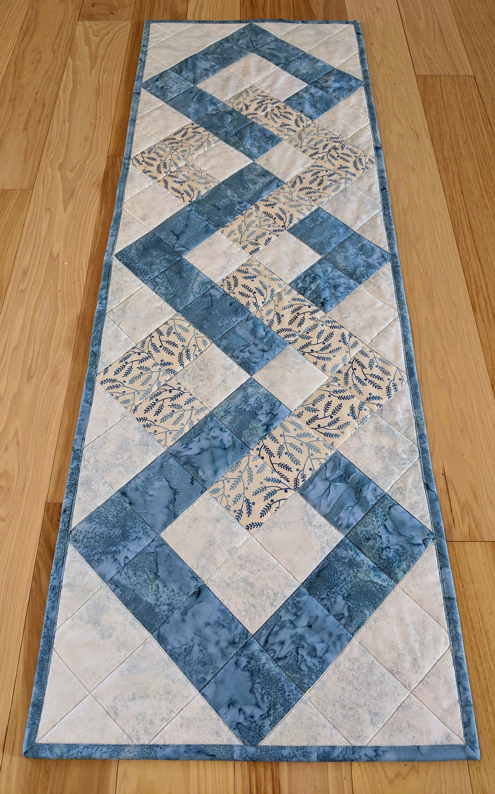 Quilted Table Runner Table Runner Teal And Cream Table Runner Inte Quilted Table Runners Christmas Quilted Table Runners Patterns Table Runner And Placemats