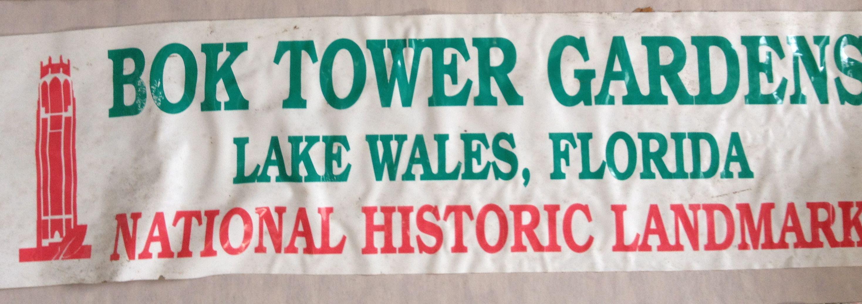 Lake Wales Fl Lake Wales Bumper Stickers National Historic Landmark [ 1037 x 2937 Pixel ]