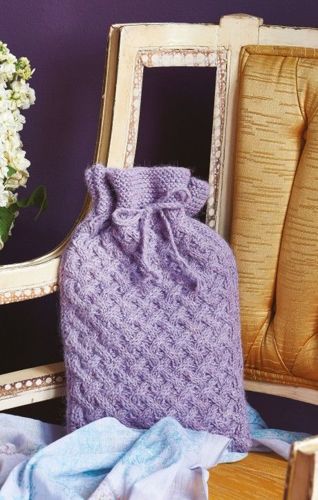 Snuggle up with our supersoft alpaca hottie cover wool craft cosy cabled hot water bottle cover free knitting patterns cables and cabling lets knit magazine dt1010fo