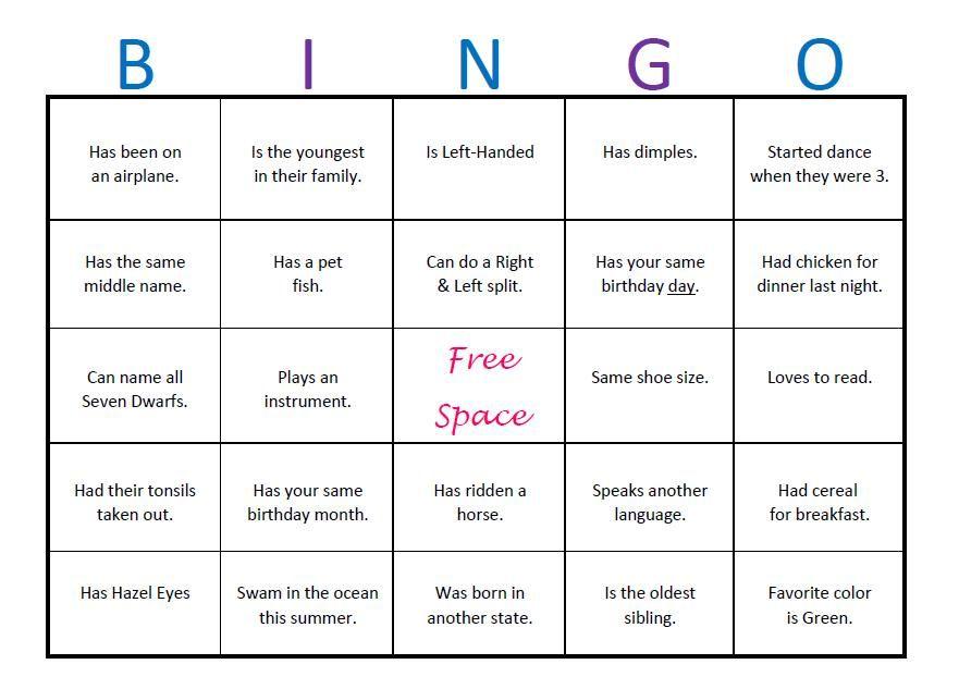 ice breaker bingo template elementary google search teacher