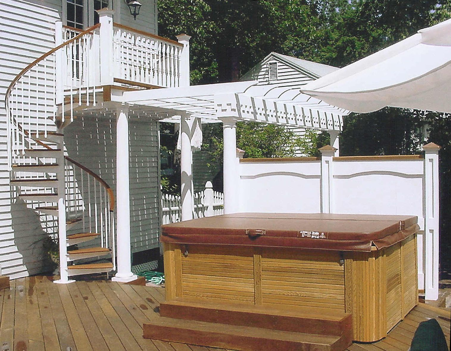 Best Balcony To Porch Spiral Stair Staircase Outdoor Stairs 400 x 300