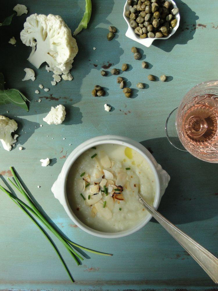 cauliflower parmesan soup