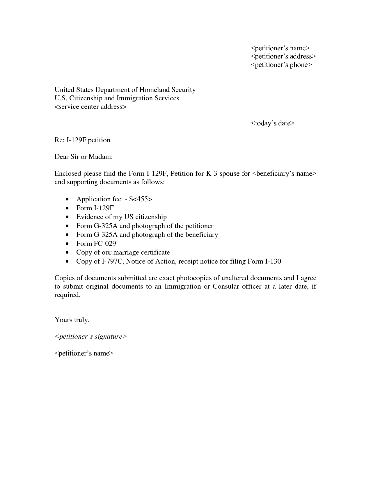 i 130 cover letter example