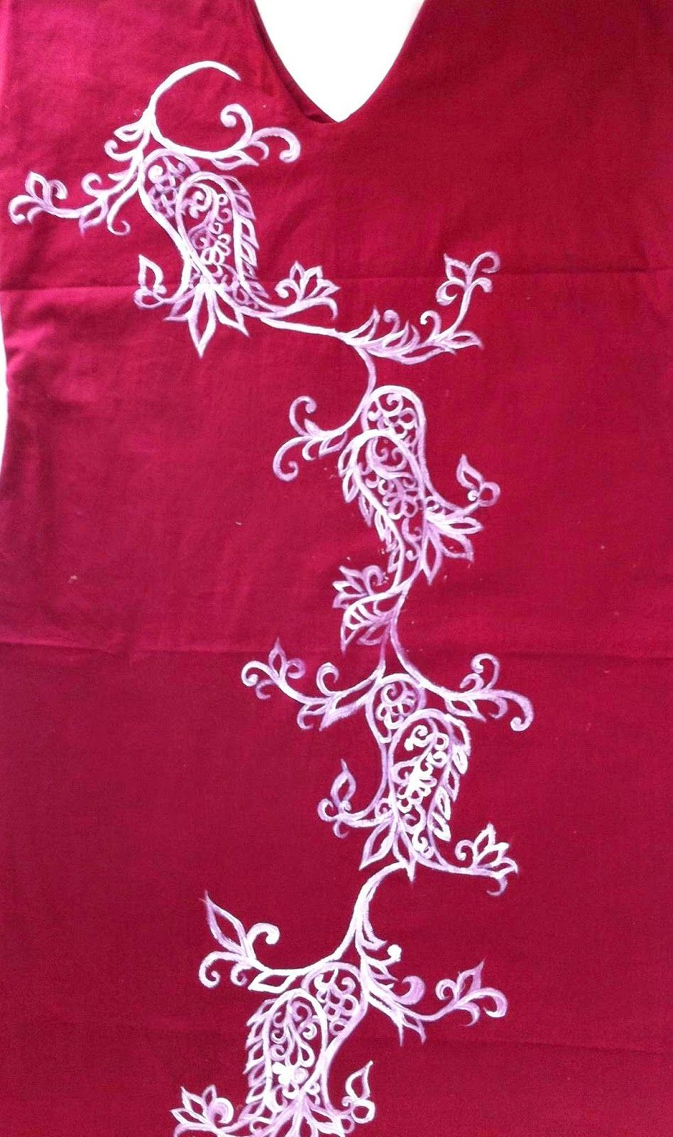 Shirt design with fabric paint - Painting And Embroidery Design For Free