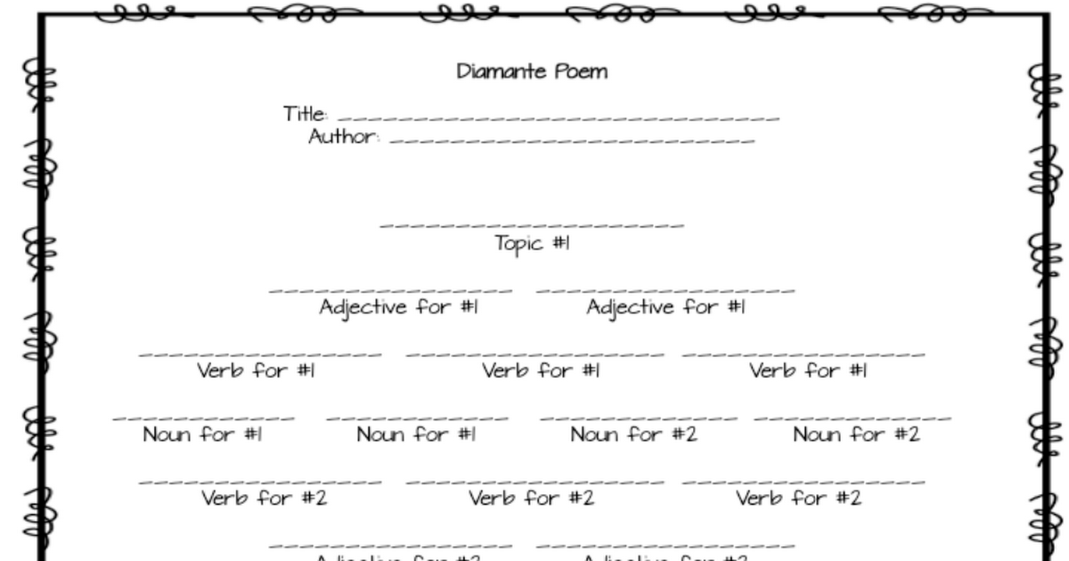 poetry templates pdf writing pinterest poetry writing and reading