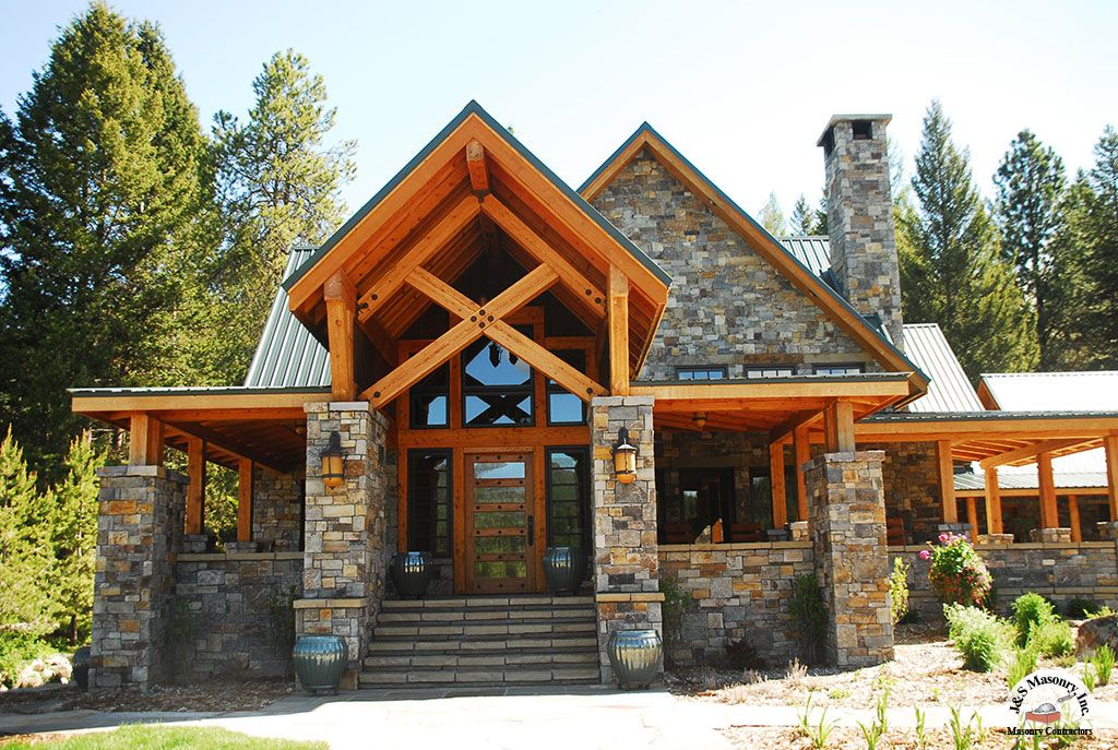 in the mountains of northwestern montana this elegant ranch house