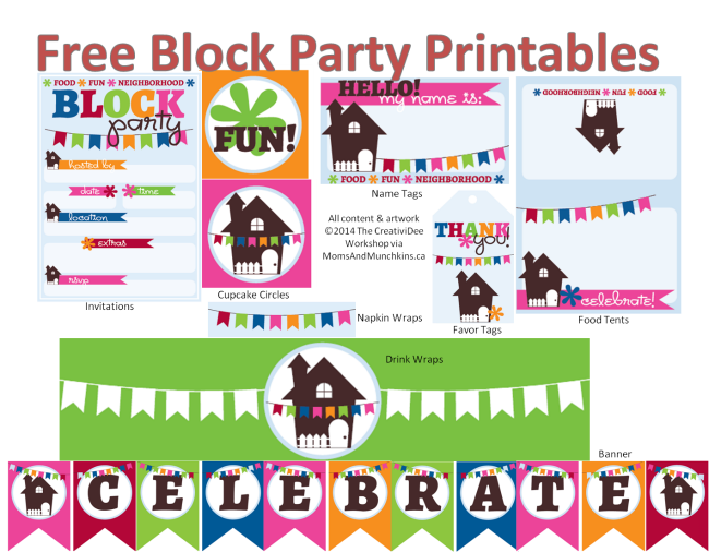 Neighborhood Block Party Printables Free Block Party Invitations Block Party Sign Halloween Block Party