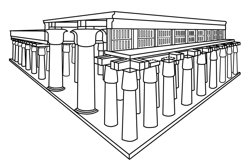 Clerestory Diagram Hypostyle Halls Most Ancient Egyptian Temples