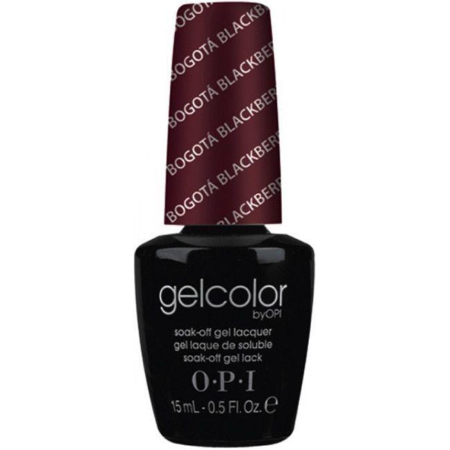 OPI Gelcolor Bogota Blackberry Soak-Off Gel Lacquer | Nails | Pinterest