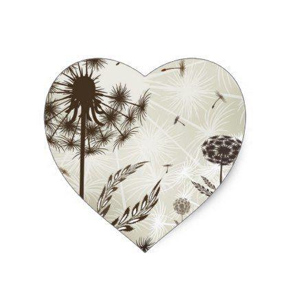 FLi Design HK - Plant Pattern 7 Heart Sticker - craft supplies diy custom design supply special