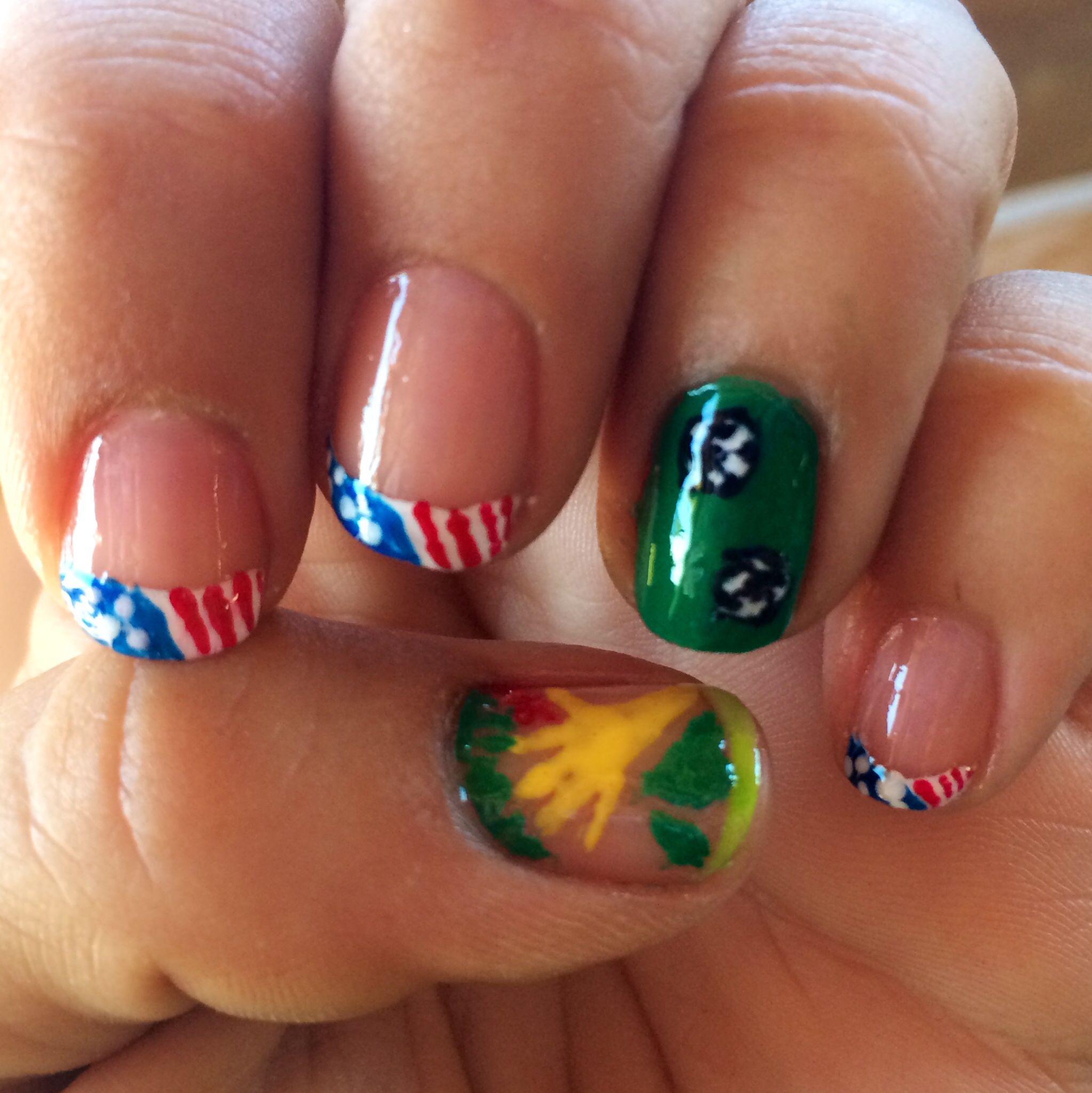Fifa world cup nails go usa please dont judge me for how fifa world cup nails go usa please dont judge me for how badly the fifa emblem turned out prinsesfo Gallery