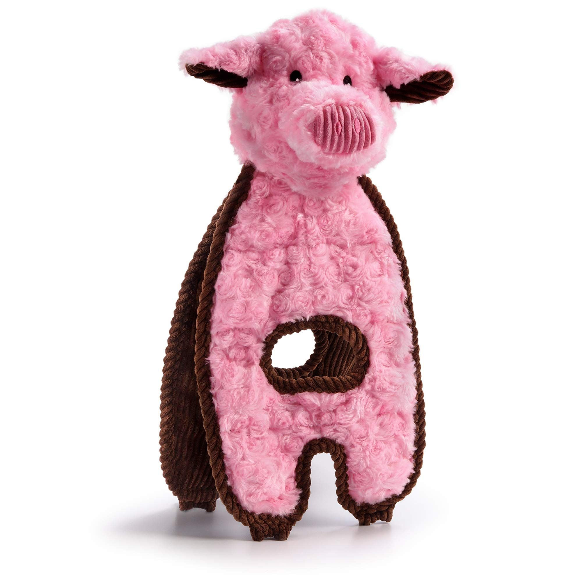 Charming Pet Cuddle Tugs Pig Plush Dog Toy Tough And Durable