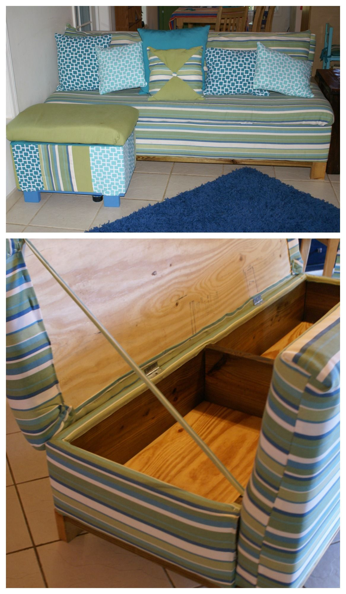 Easy Diy Sofa With Storage Flip Up Diy Storage Sofa Diy Sofa Secret Compartment Furniture