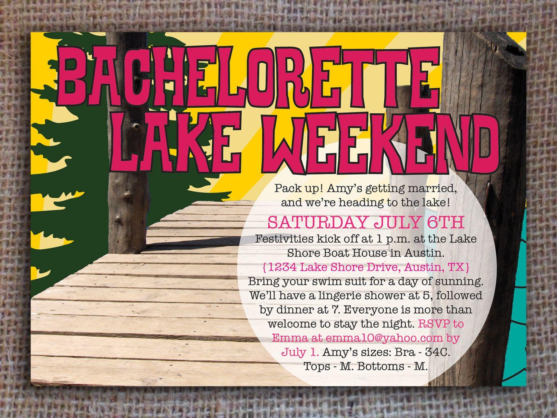 lake weekend invitation bachelorette bachelor digital by kitsyco 1200