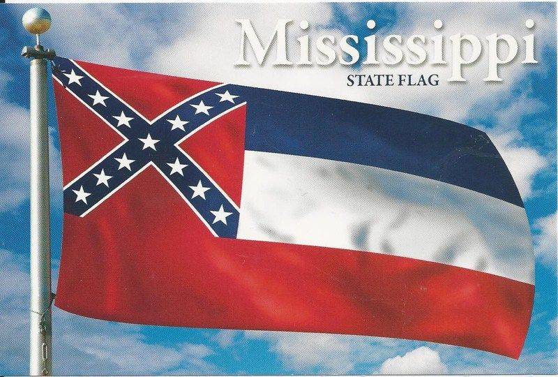 Postcard Mississippi State Flag Mississippi Flag State Flags Mississippi