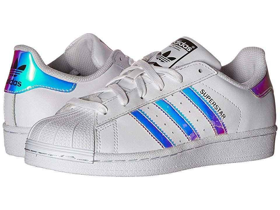 adidas superstar j white metallic
