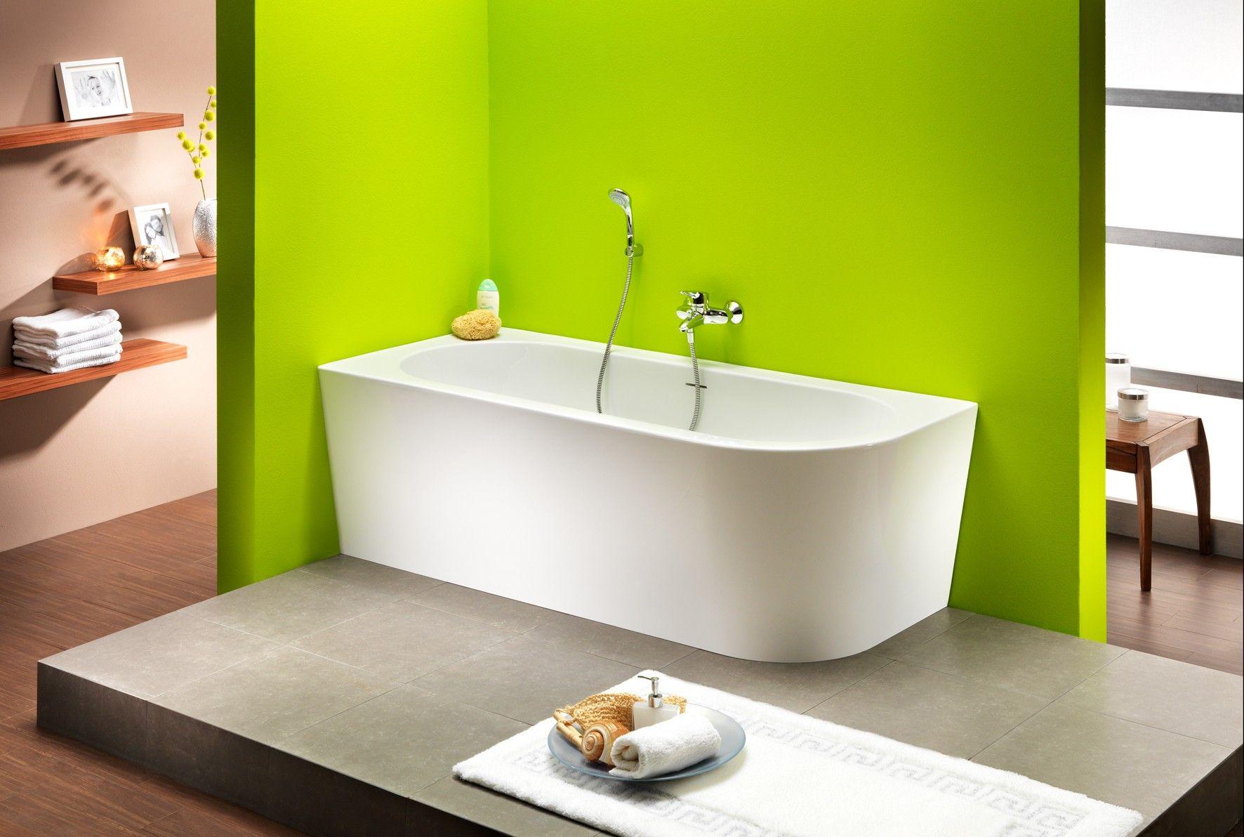 Freistehende Badewanne Modena Corner 178 x 78 x 44 cm rechts | Bad ...