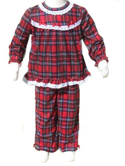 d780481b8 Little Me Infant Girl Red Plaid Holiday PJ 2 Piece Set