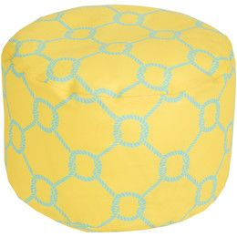 Poufs For Sale Extraordinary Rope Trellis Lemon Outdoor Pouf Outdoor Sale  20% Off Thru 69 Design Inspiration