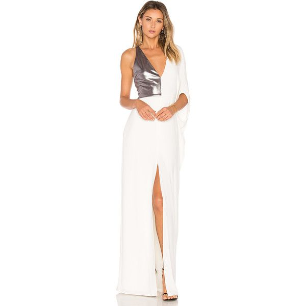 Halston Heritage Asymmetrical Gown ($425) ❤ liked on Polyvore ...