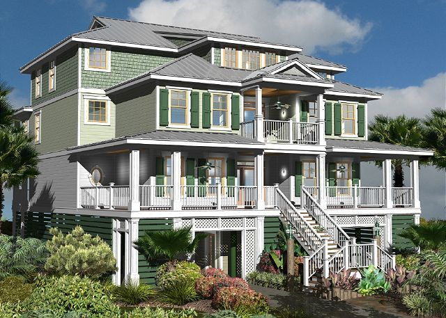 Lovely CRG Home Design Currently Under Construction In Garden City Beach, SC.