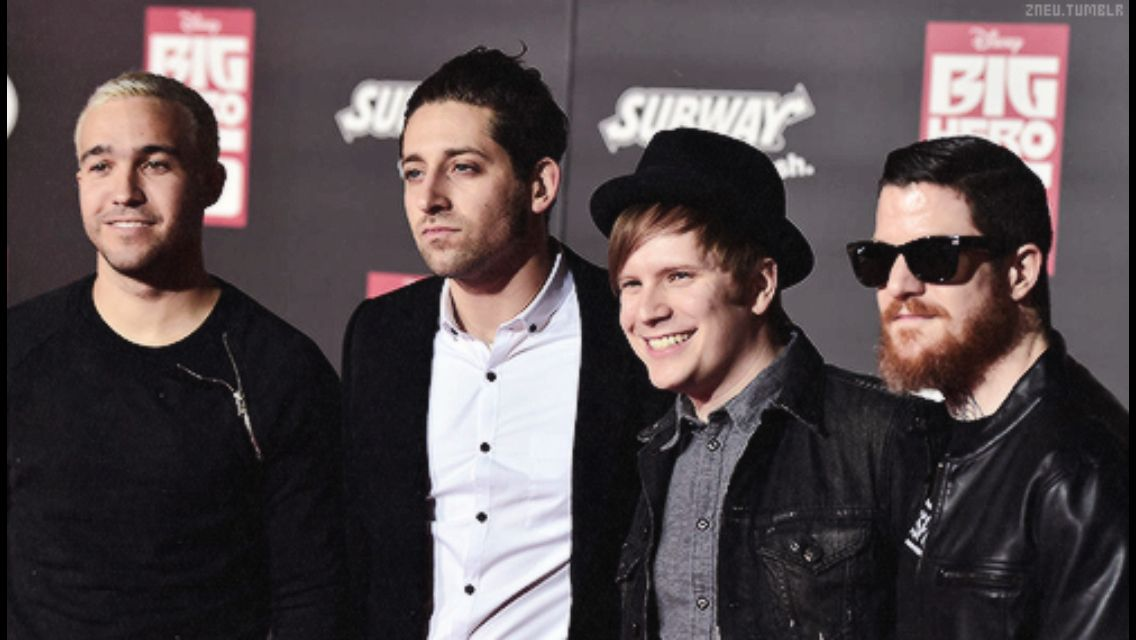 Fall out boy at the premiere for Big Hero 6.