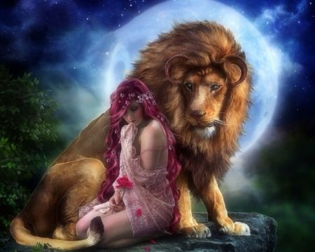 Beautiful The Beast Photomanipulation Fantasy Lion Woman