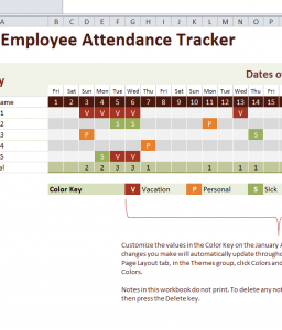 Employee Attendance Tracker Free Excel Template Http