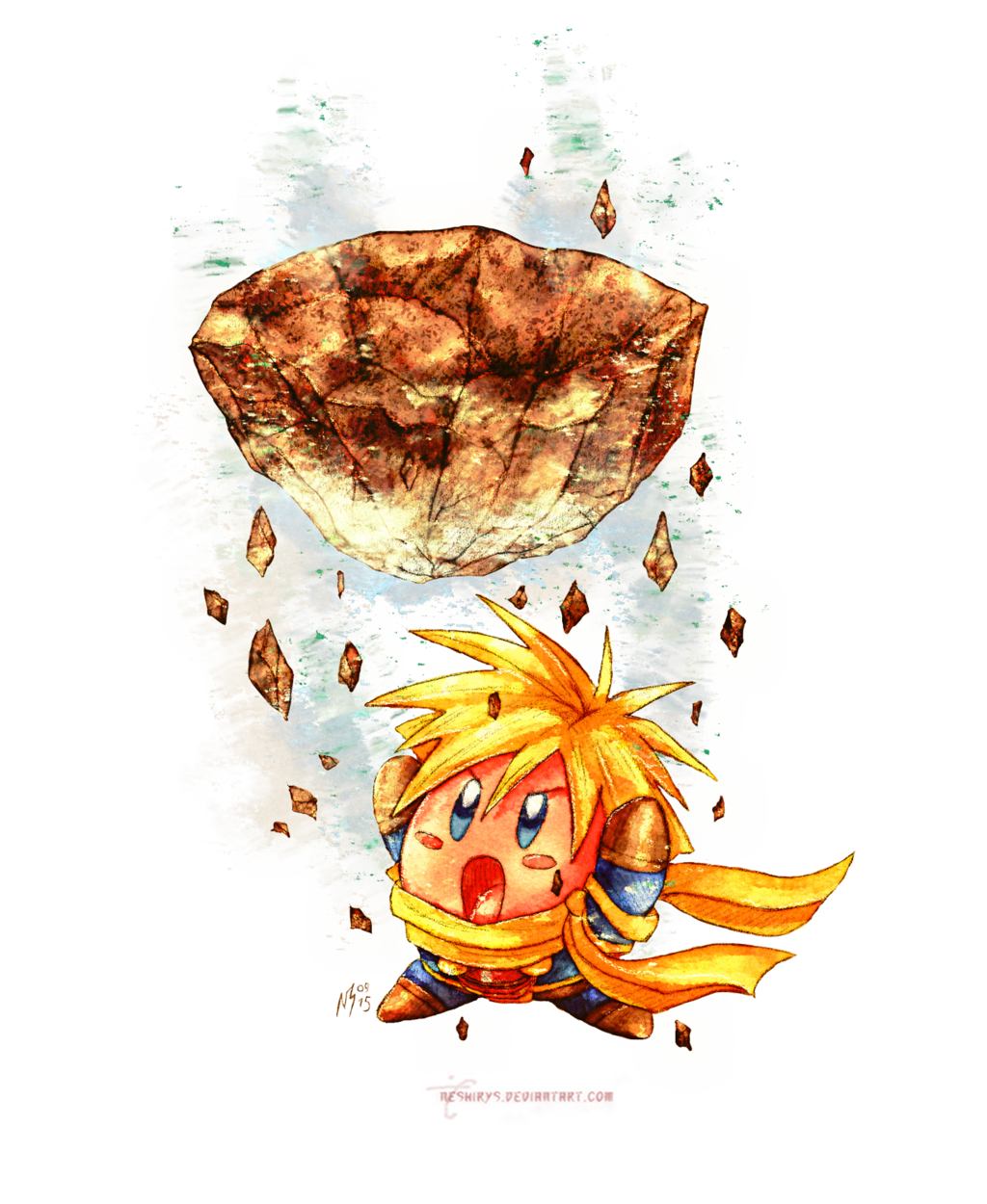 Golden Sun - Kirby Isaac by neshirys.deviantart.com on @DeviantArt