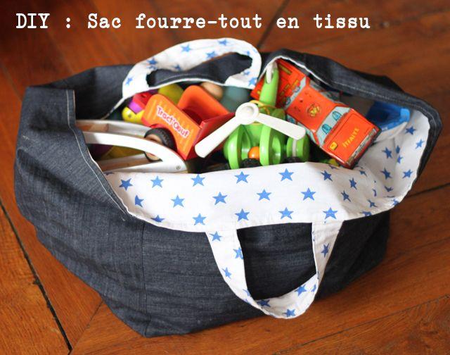 DIY #2 : Sac Fourre-tout En Tissu, Pouyr Ranger Les Jouets