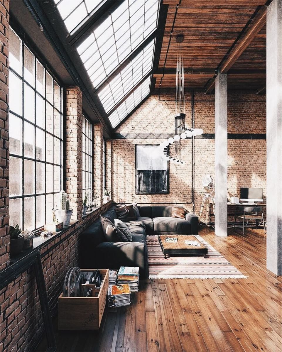 Minimal Interior Design Inspiration Industrial Loft Design