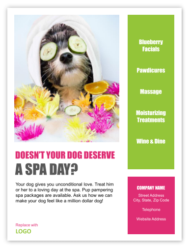 Grooming flyer or poster template dogs pinterest dog grooming flyer or poster template solutioingenieria Image collections