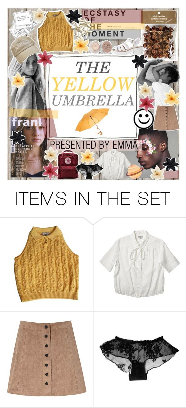 """the yellow umbrella [draft] ;♡"" by emmaluv10869 ❤ liked on Polyvore featuring art"
