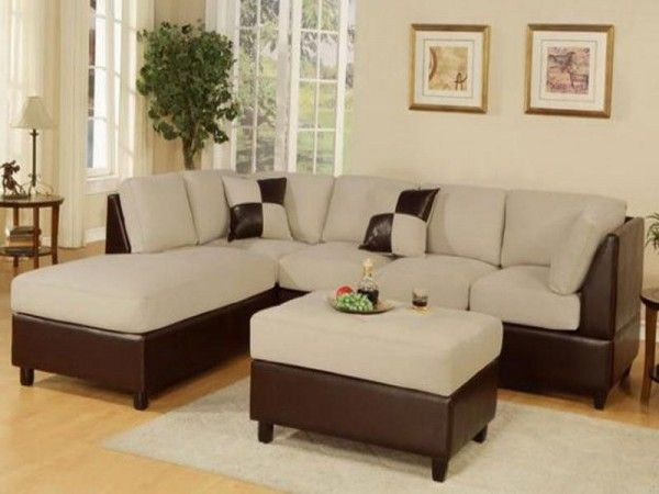 Sectional Sofa Set With Ottoman In Mushroom Finish Featured Some Embly May Be Required