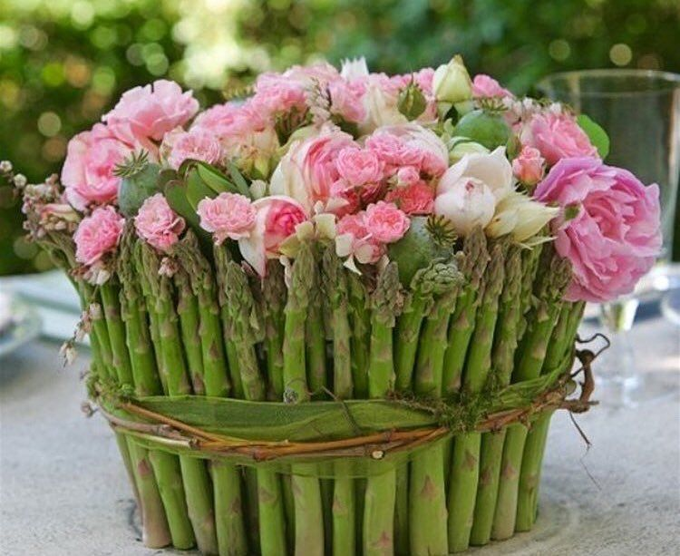 Citychic4ever On Instagram Keeping With The Asparagus Theme You Could Fill The Beautiful As Flower Arrangements Flower Arrangement Designs Spring Flowers