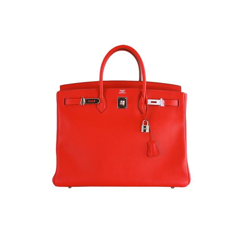 37746e799e NEW WOW COLOR! HERMES BIRKIN BAG 40 CM ROUGE CASAQUE CRAZY RED!