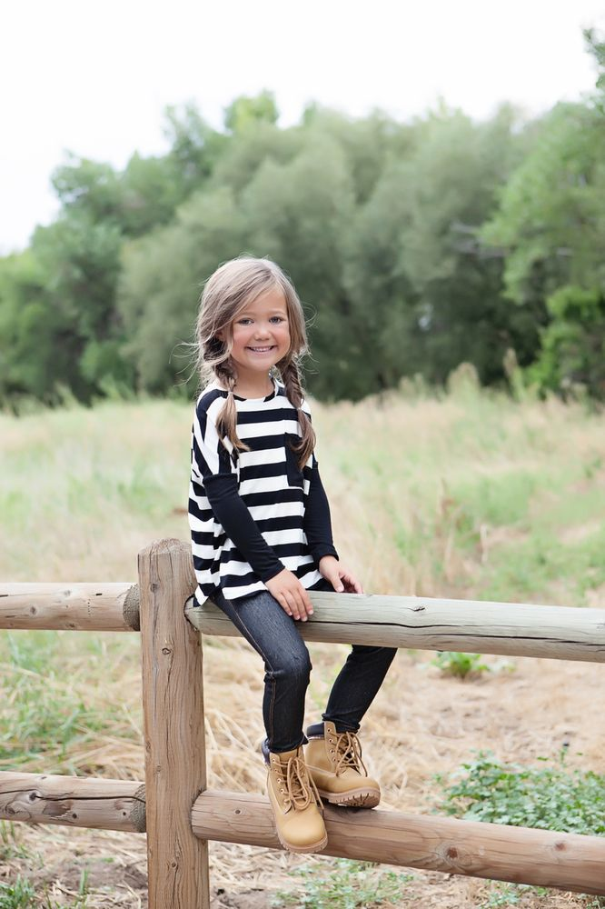 614900c27 Ryleigh Rue Clothing by MVB - Girls Relaxing In Stripes Top Black, $22.00  (http