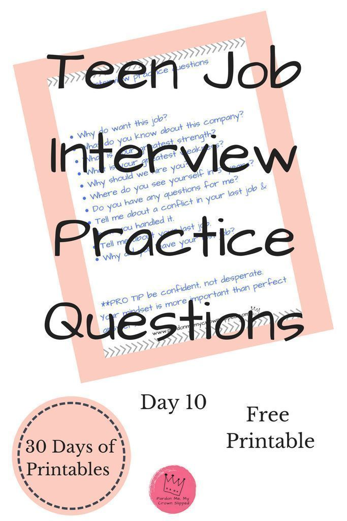 Job Interview Practice Questions - Interview skills, Jobs for teens, Job interview tips, Job interview, Job interview questions, Practice interview questions - Try these job interview practice questions to get yourself ready for your next job interview  Top questions you may hear